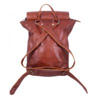 Kids Teddy Leather Backpack