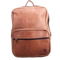 Leather Backpack with Front Pocket