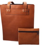Student Leather Book Bag