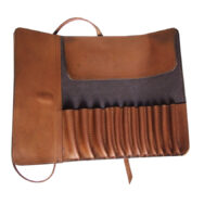 Leather Roll for Powder and other Cosmetic Brushes