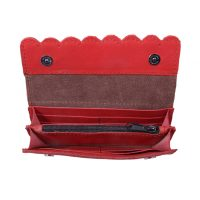 Ladies Scalloped Leather Wallet