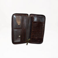 Leather Lux Wallet with Zip